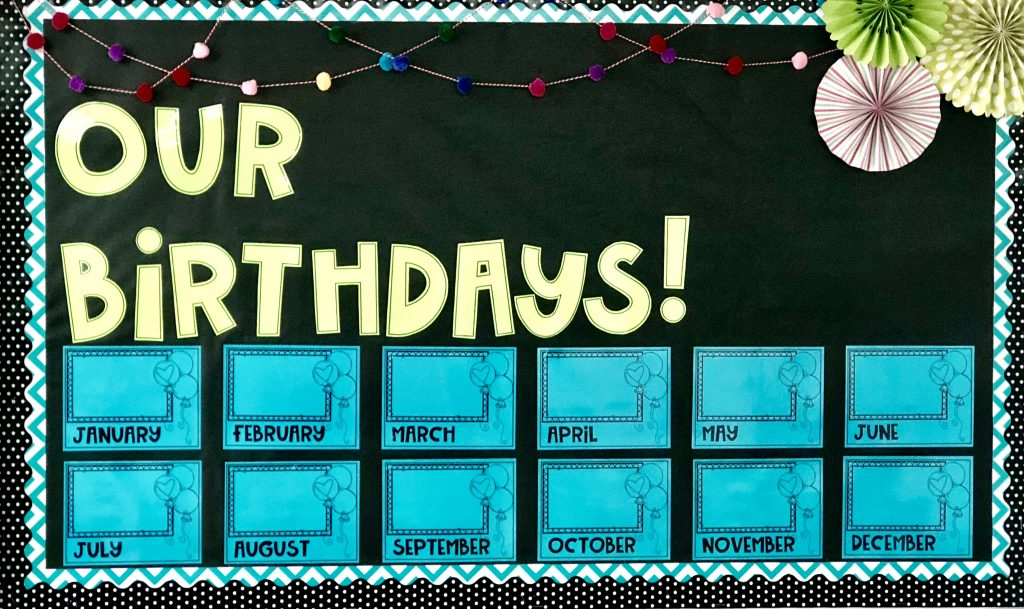 Birthday Bulletin Board Example